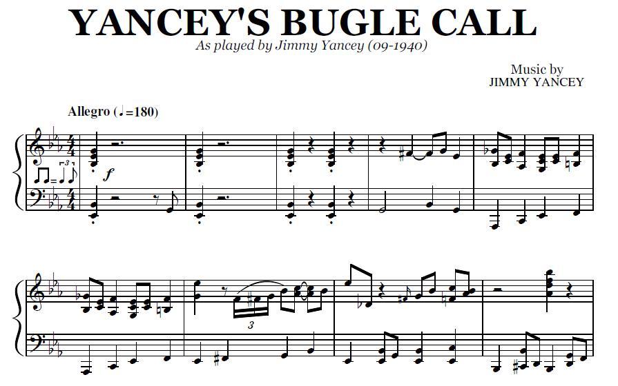 Yancey Bugle Call Pdf By Jimmy Yancey