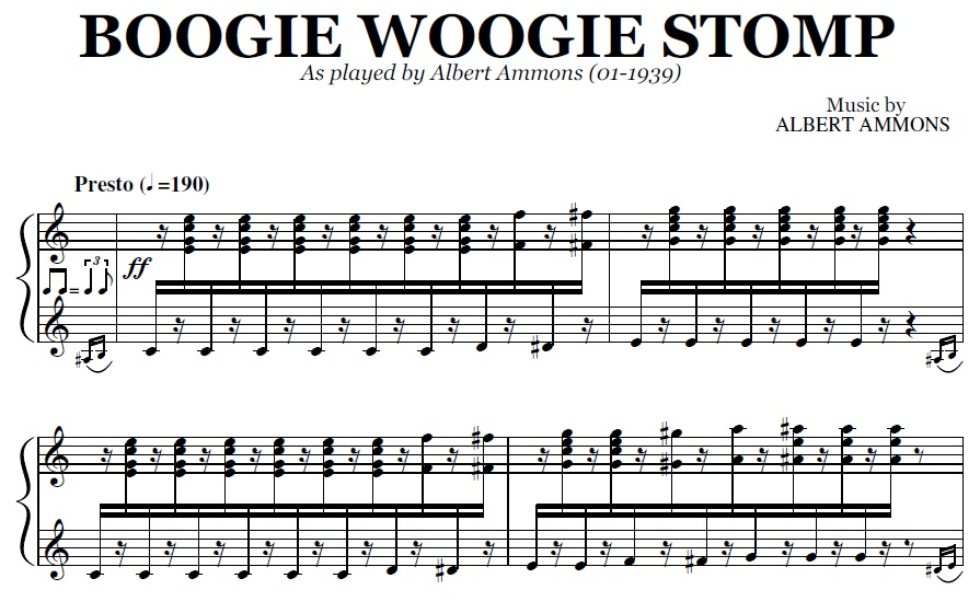 Boogie Woogie Stomp Pdf By Albert Ammons
