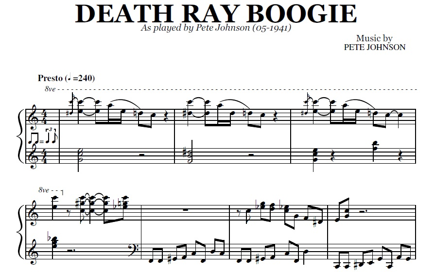 Death Ray Boogie Pdf By Pete Johnson