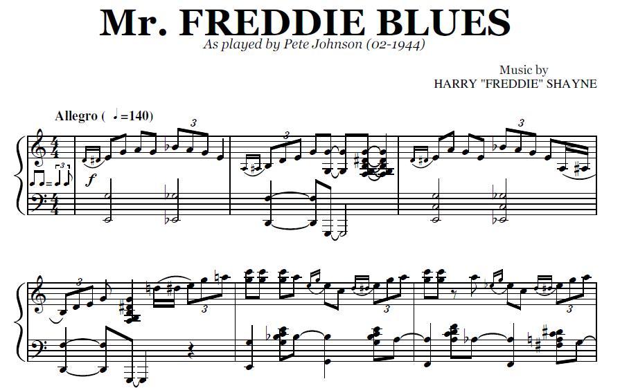 Mr  Freddie Blues (PDF), by Pete Johnson