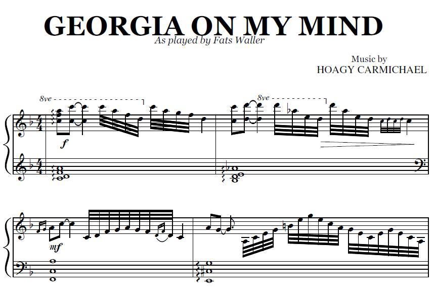 georgia on my mind lead sheet - Denmar.impulsar.co