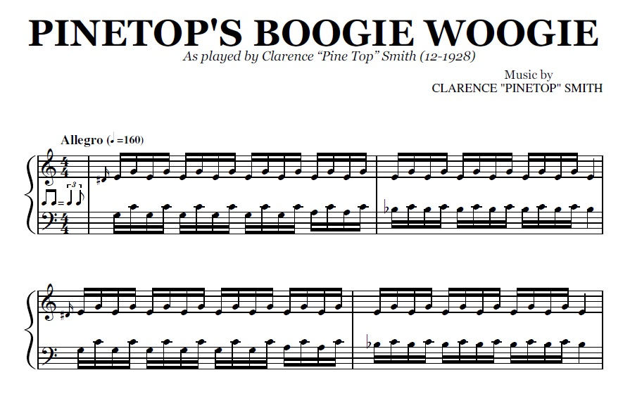 Pinetops Boogie Woogie Pdf By Pine Top Smith
