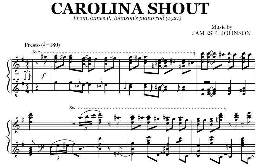 JAMES P JOHNSON CAROLINA SHOUT PDF DOWNLOAD