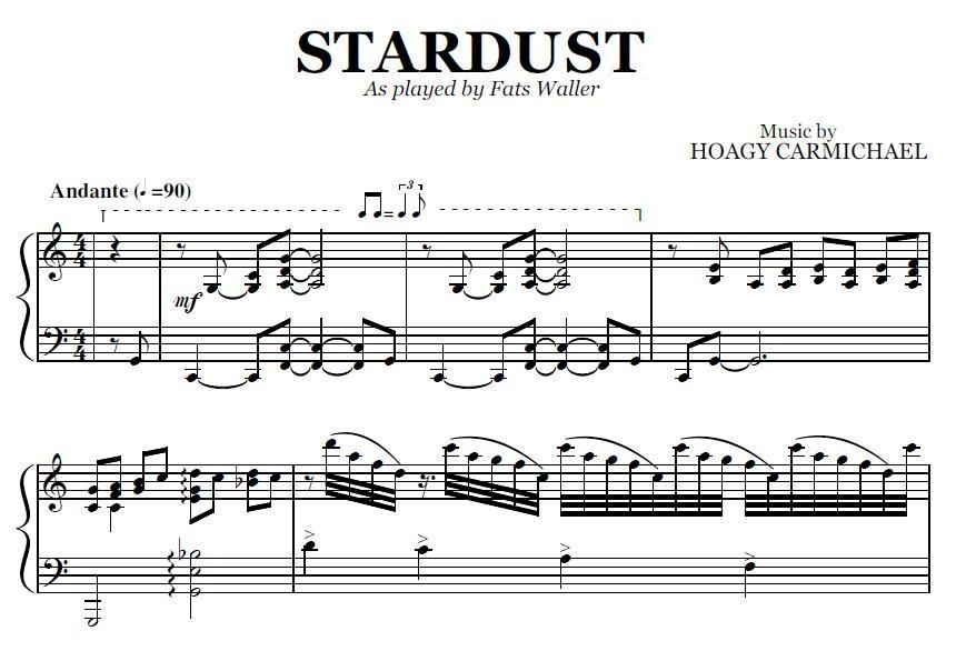Stardust (PDF), by Fats Waller