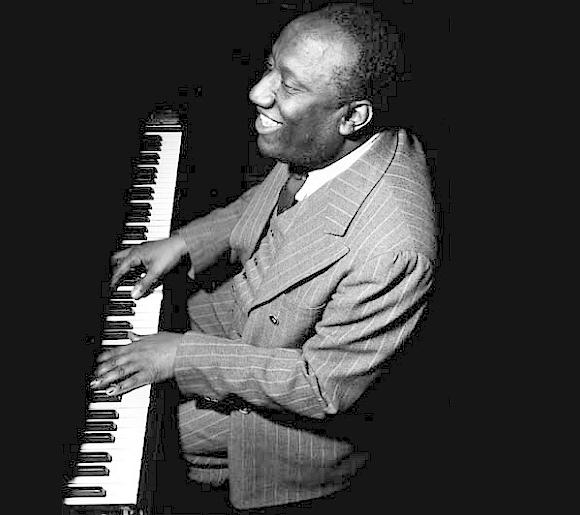 James P. Johnson at the piano