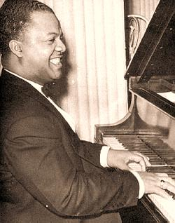 Meade Lux Lewis at the piano